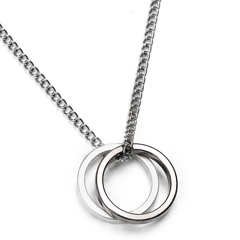 M Two Ring Layered Necklace (기간 한정 할인)