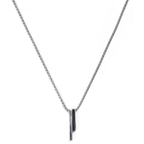 M Two Bar Layered Necklace