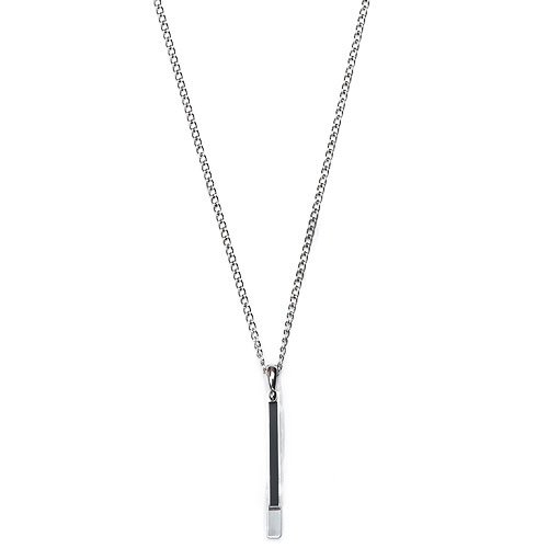 M Layered Long Bar Necklace