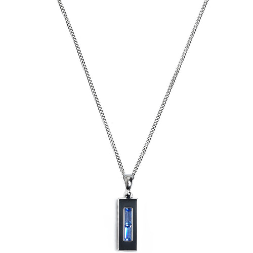 Second M Two Spaces Blue Necklace