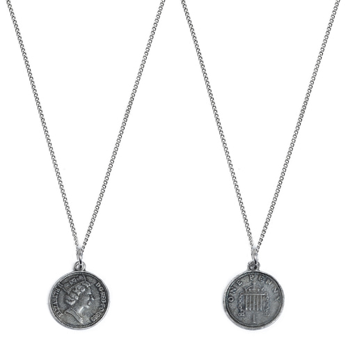 Second M Penny Coin Necklace