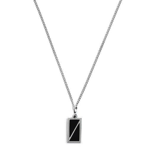 Second M Half Black Necklace