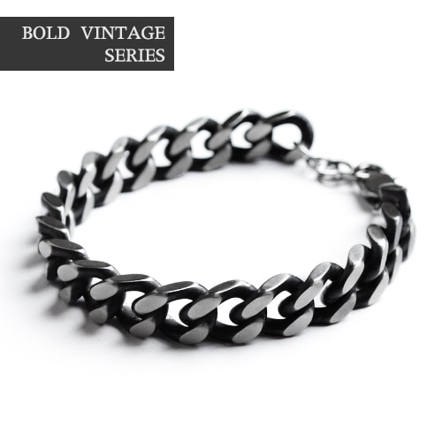 Series Black Bold Chain Bracelet