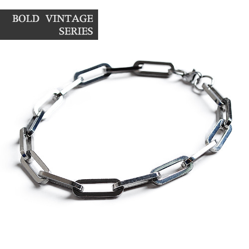 Series Square Chain Black Bracelet