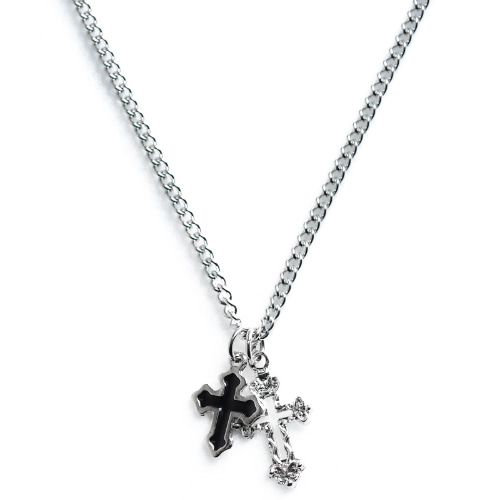 BS Double Cross Necklace