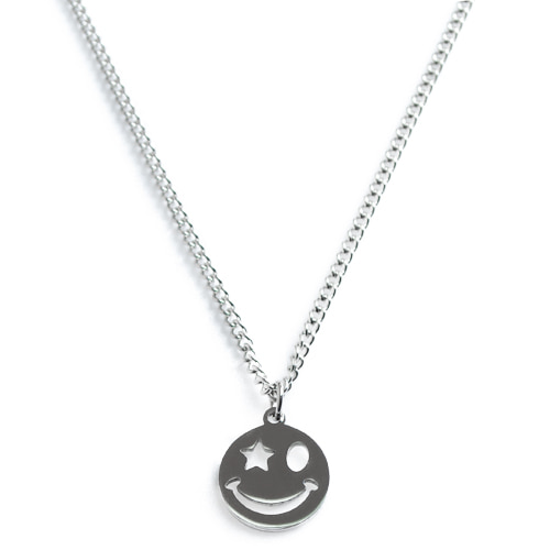 Smile Star Circle Necklace